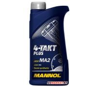 Масло моторное полусинтетическое Mannol 4- Takt Plus TC SAE 10W40 API SL 1L