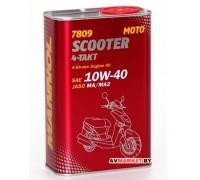 Масло моторное для 4-х тактных двигателей Mannol 7809 4- Takt Scooter 10W-40 1L METALL Литва