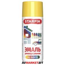 Краска-эмаль аэроз. универсальная желтый STARFIX 520мл 1018 SM-95046-1 РБ