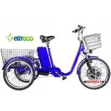 Велосипед электро трехколесный Crolan 350W синий