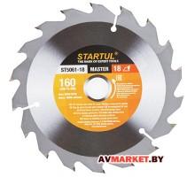 Диск пильный 160*20/16мм 18 зуб. по дереву STARTUL ST5061-18