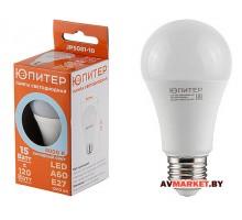 Лампа светодиодная A60 Стандарт 15 Вт 170-240В Е27 4000К ЮПИТЕР JP5081-10