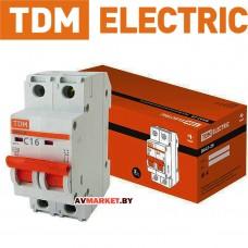 Автоматич. выключатель ВА47-29 2P 16A 4.5кА х-ка С TDM SQ0206-0093