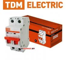 Автоматич. выключатель ВА47-29 2P 20A 4.5кА х-ка С TDM SQ0206-0094