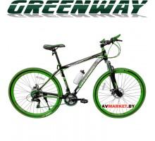 """Велосипед GREENWAY 29 M059-29"""" горный для взрослых Китай черно-зеленый"""