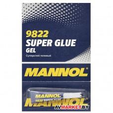 Суперклей гелевый Mannol 9822 GEL Super Glue 2 г Литва