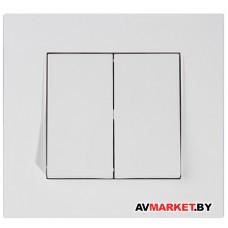 Выключатель 2-клав. скрытый, пруж. зажим, белый, RITA, MUTLUSAN 2220 402 0101 Турция