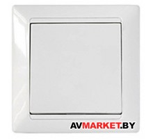 Выключатель 1 клав скрытый 10А белый Стиль Bylectrica C110-801