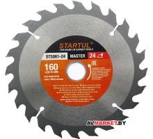 Диск пильный 160*20/16мм 24 зуб по дереву STARTUL ST5061-24 Китай