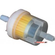 Фильтр топливный с магнитом желт Скутер+МД 139QMB универсальный штуцер 6мм Россия