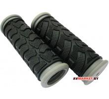 Грипсы (ручка на руль) HW 145295 L-92(чёрно-серый) 3223