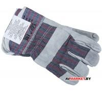 Перчатки спилковые комбинированные арт LR560 Китай
