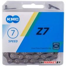 """Цепь KMC Z7 (аналог Z-50) серо-коричн.116 зв. 1/2""""x3/32"""" 7.3мм горн 6-7ск. с замком в пл.короб Китай"""