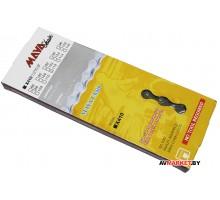 Цепь вело MAYA X410 1/2*1/8 112 звеньев, сталь, индив. упак дорожн Китай 83600965