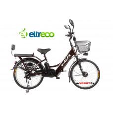 """Электровелосипед 24"""" (велогибрид) Green City E-Alfa черный 0082"""
