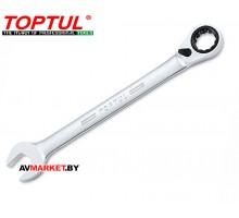 Ключ комбинированный 15мм с перекл. трещоткой 15мм TOPTUL ABAF1515