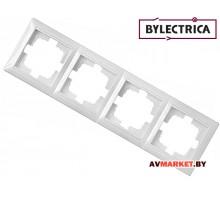 Рамка 4-местная белая Стиль Bylelectrica ЮЛИГ.735212.217 Белорусь