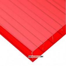 Сотовый поликарбонат 8мм (красный) SOTALIGHT