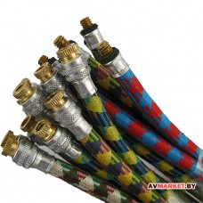 Шланг велонасоса корот. с перех. (д.5)евро 200мм A/V-клапан красный 83601218 4800836012187 Китай