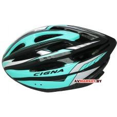 Шлем велосипедный Cigna WT-040 черный/зеленый/серебристый Китай 3041