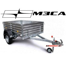 Прицеп МЗСА-817710.004 (185х123 см, борт 47 см) для дачи (с высоким бортом)