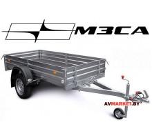 Прицеп МЗСА-817701.012 (245х123 см, борт 29 см) для дачи, охоты и рыбалки