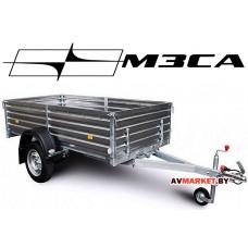 Прицеп МЗСА-817701.004-05 (245х123 см, борт 47 см) для дачи, охоты и рыбалки (с высоким бортом)