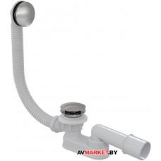 Сифон для ванны click/clack металл, Alcaplast A504KM Чехия