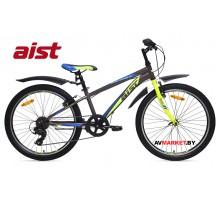 """Велосипед 24"""" двухколесный для подростков Aist Rocky Junior 1.0 черно-желтый 2019 4810310005307"""
