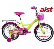 """Велосипед 18"""" двухколесный для детей Aist LILO желтый 2019 4810310004034"""
