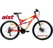 """Велосипед 26"""" горный Aist Avatar Disk красно-зеленый 2019 4810310005369"""