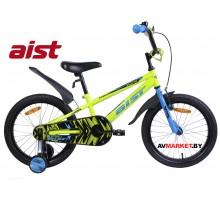 """Велосипед 18"""" двухколесный для детей Aist PLUTO желтый 2020 4810310007622"""