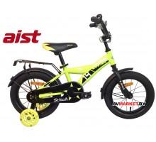 """Велосипед 14"""" двухколесный для детей Aist STITCH желтый 2019 4810310003877"""