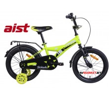 """Велосипед 16""""двухколесный для детей Aist STITCH желтый 2020 4810310007738"""