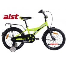 """Велосипед 18""""двухколесный для детей Aist STITCH  желтый 2019 4810310003938"""