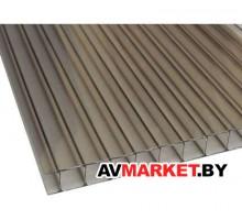 Сотовый поликарбонат ROYALPLAST 8мм бронза-серый 2100*12000мм