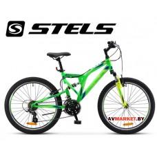 Велосипед 24 STELS MUSTANG V Россия (неоново-зеленый)