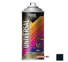 Краска-эмаль аэроз. универсальная INRAL UNIVERSAL ENAMEL 05 черный мат 400мл (9011) 26-7-6-005