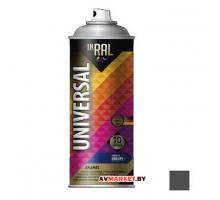 Краска-эмаль аэроз. универсальная INRAL UNIVERSAL ENAMEL 07 серый 400мл (7024) 26-7-6-007