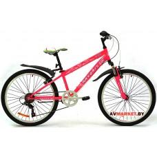 Велосипед  двухколесный FAVORIT модель ALICE 24 Китай (розово-белый, сиренево-белый)
