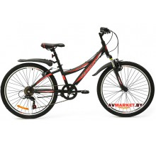 Велосипед  двухколесный FAVORIT модель SPACE 24 Китай (черно-красный, сиренево-розовый)