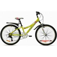 Велосипед  двухколесный FAVORIT модель ANGEL 24 Китай (бело-зеленый, бело-голубой,бело-розовый)