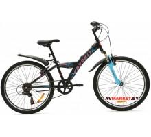 Велосипед  двухколесный FAVORIT модель METEOR 24 Китай (черно-синий,черно-красный)