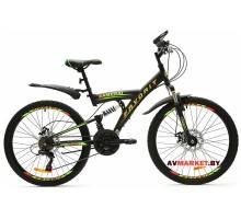Велосипед  двухколесный FAVORIT модель SAMURAI 24 Китай (зелено-черный, оранжево-черный)
