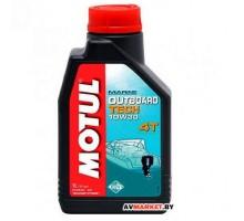 Масло Motul OUTBOARD TECH 4T 10W30 мотор. полусин для 4х такт. подвесных лодочных моторов 1л Германи