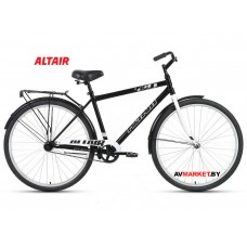 """Велосипед ALTAIR CITY 28 high (28"""" 1ск рост 19"""") муж черный/серый RBKT1YN81002 2020-2021"""