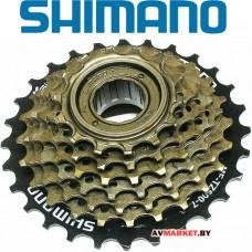 Трещотка SHIMANO MF-TZ500-7 ск 14-28 черно-коричн. сталь б/уп. Китай 5144 83609724