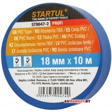 Изолента ПВХ 18мм*10м синяя STARTUL PROFI ST9047-2 Китай
