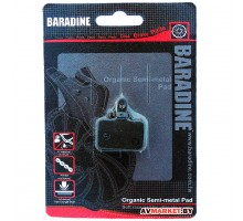 Колодки тормозные BARADINE DS-10 Semimetal 1204