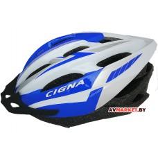 Шлем велосипедный Cigna WT-040 (черный/фиол/бел 3040